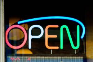 open neon light signage