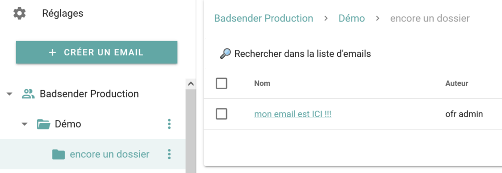 retrouvez votre email plus facilement en sortant de l'éditeur